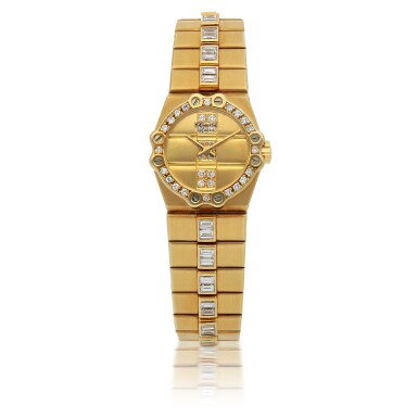 CHOPARD | ST MORITZ, REF 5156, YELLOW GOLD AND DIAMOND-SET BRACELET WATCH  CIRCA 1985