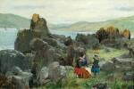 SAMUEL BOUGH, R.S.A.   Anne, Nelly and Tom, the Children of David McBeath of Nunlands Near Ayrton, Berwickshire