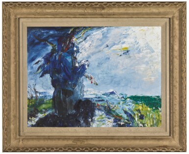 View 2. Thumbnail of Lot 11. JACK BUTLER YEATS, R.H.A.   THE MAN IN THE MOON HAS PATIENCE   .