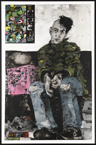View 2. Thumbnail of Lot 77. Self Portrait in the Waiting Room.