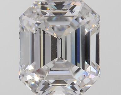 A 1.12 Carat Emerald-Cut Diamond, D Color, SI1 Clarity