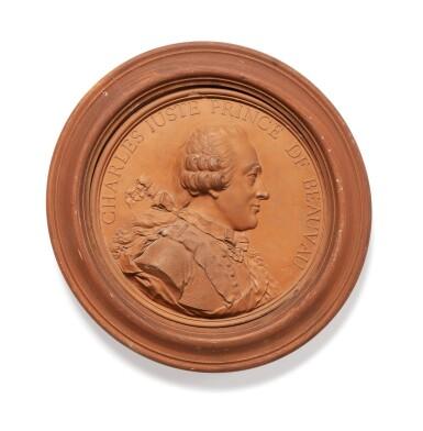 FRENCH, LATE 18TH CENTURY, BY AND AFTER JEAN-BAPTISTE NINI (1717-1786) SET OF 23 MEDALLIONS WITH PROFILES [FRANCE, FIN DU XVIIIE, PAR ET D'APRÈS JEAN-BAPTISTE NINI (1717-1786) ENSEMBLE DE 23 PROFILS EN MÉDAILLON]