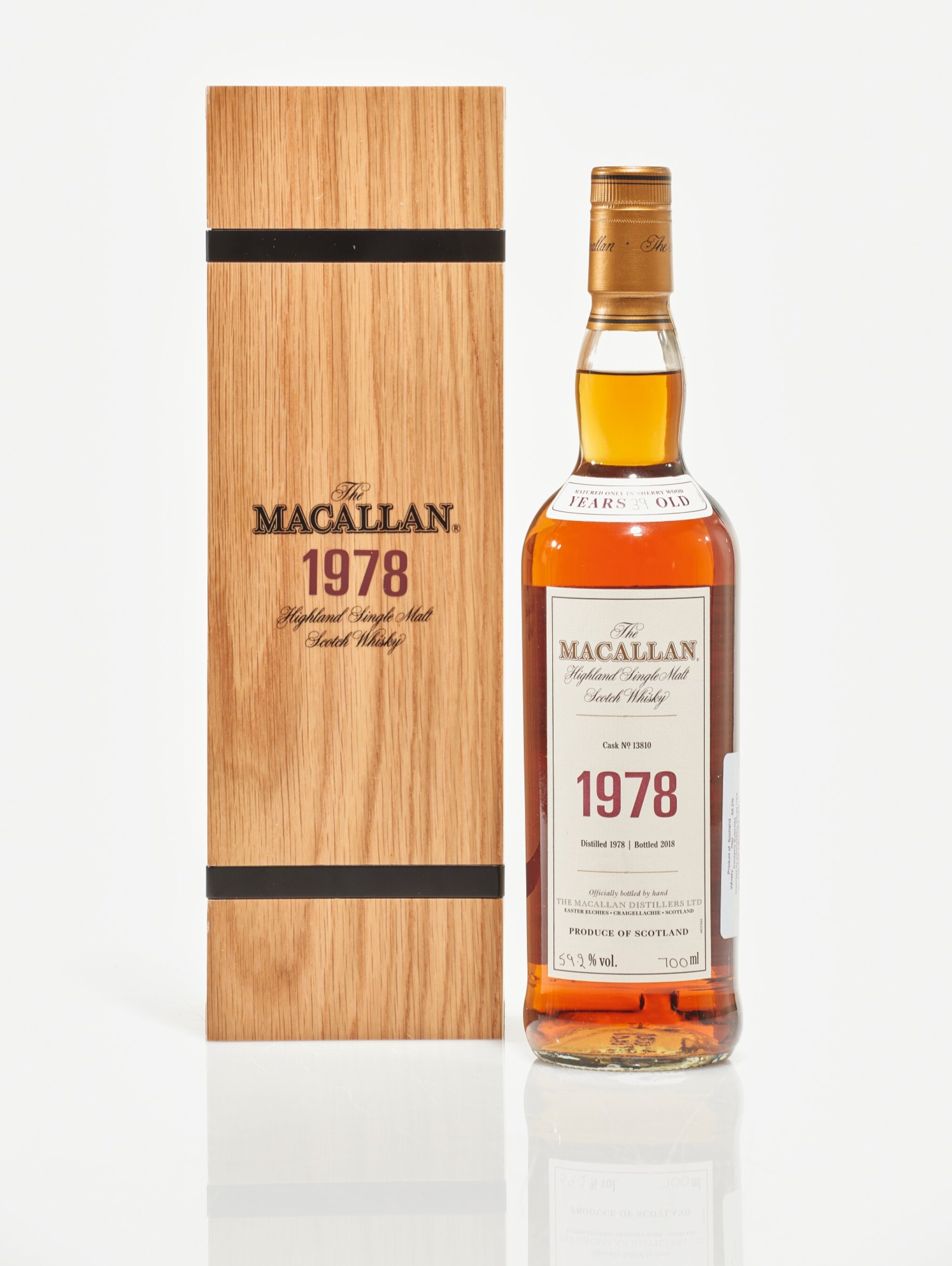 View full screen - View 1 of Lot 3. The Macallan Fine & Rare 39 Year Old 59.2 abv 1978 (1 BT70cl).
