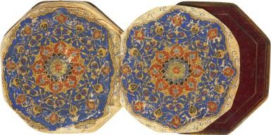 AN ILLUMINATED MINIATURE OCTAGONAL QUR'AN, COPIED BY MUHAMMAD IBN AL-HAJJ MUHAMMAD B. MUHAMMAD AL-TUGHRA'I, PERSIA, SAFAVID, DATED 920 AH/1514-15 AD
