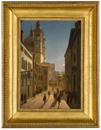 View 2. Thumbnail of Lot 75. Venice, the Rio Terrà Catecumeni, with Santa Maria della Salute in the Distance.