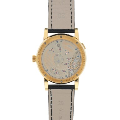 View 4. Thumbnail of Lot 432. Lange 1, Ref. 101.021 Yellow gold wristwatch with digital date display and power reserve indication Circa 2001 | 朗格 101.021型號「Lange 1」黃金腕錶備數字日期及動力儲存顯示,年份約2001.