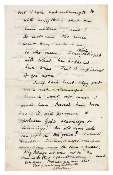 View 6. Thumbnail of Lot 26. CHURCHILL | autograph letter signed, to Pamela Plowden, 1900.
