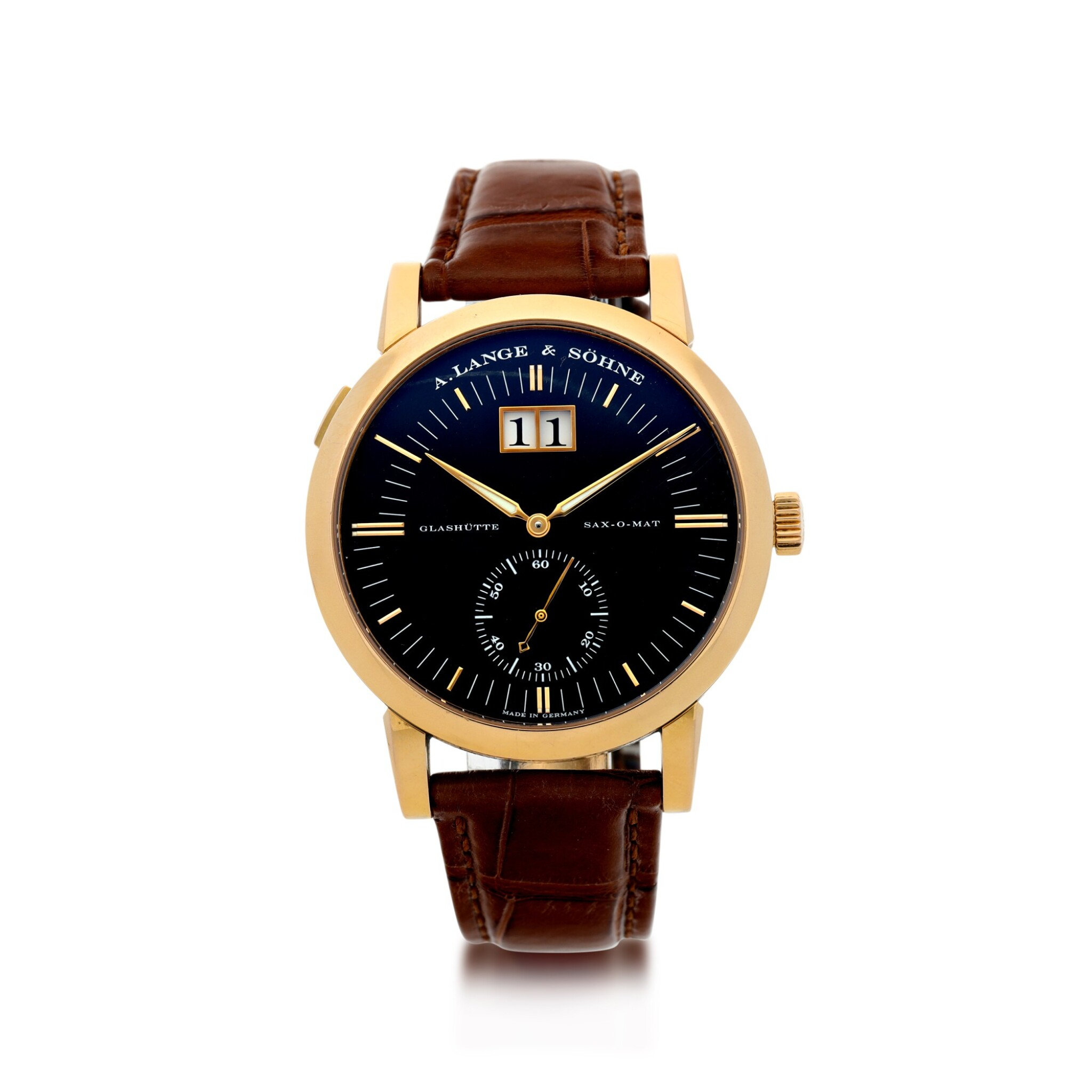View 1 of Lot 303. A. LANGE & SÖHNE   REFERENCE 309.031 GRAND LANGEMATIK  A PINK GOLD AUTOMATIC WRISTWATCH WITH DATE, CIRCA 2005.