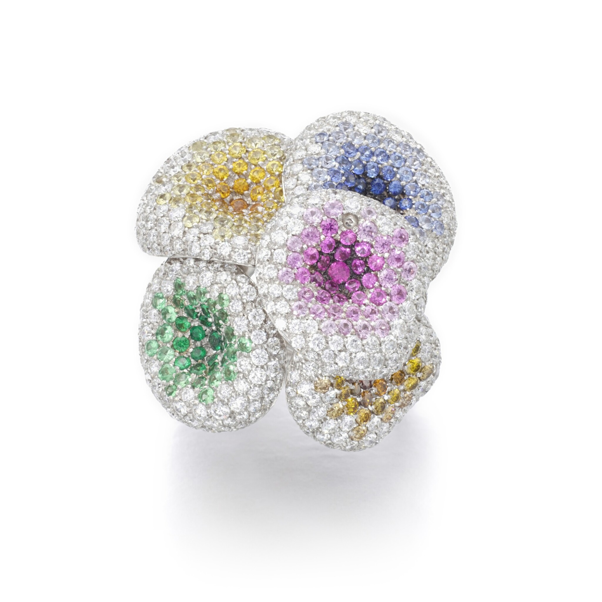 View full screen - View 1 of Lot 11. PALMIERO   GEM SET AND DIAMOND RING.