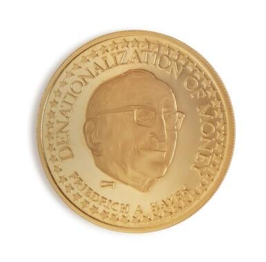 4 GOLD STANDARD CORPORATION HAYEK MEDALLIONS, 1979