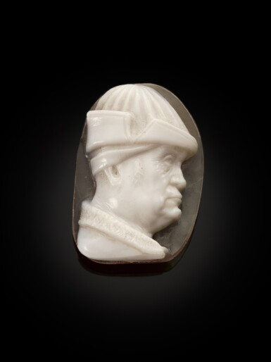 ITALIAN OR FRENCH, CIRCA 1470-1480 | CAMEO WITH A PORTRAIT OF RENÉ OF ANJOU (1409-1480)