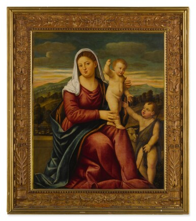 View 3. Thumbnail of Lot 11. Madonna and child with Saint John the Baptist.