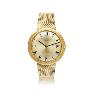 View 1. Thumbnail of Lot 135. PATEK PHILIPPE  |  REFERENCE 3565/1 'IOS' A YELLOW GOLD AUTOMATIC BRACELET WATCH WITH DATE, MADE IN 1968.