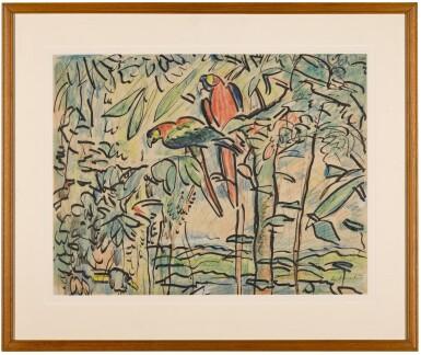 View 2. Thumbnail of Lot 8. Parrots.