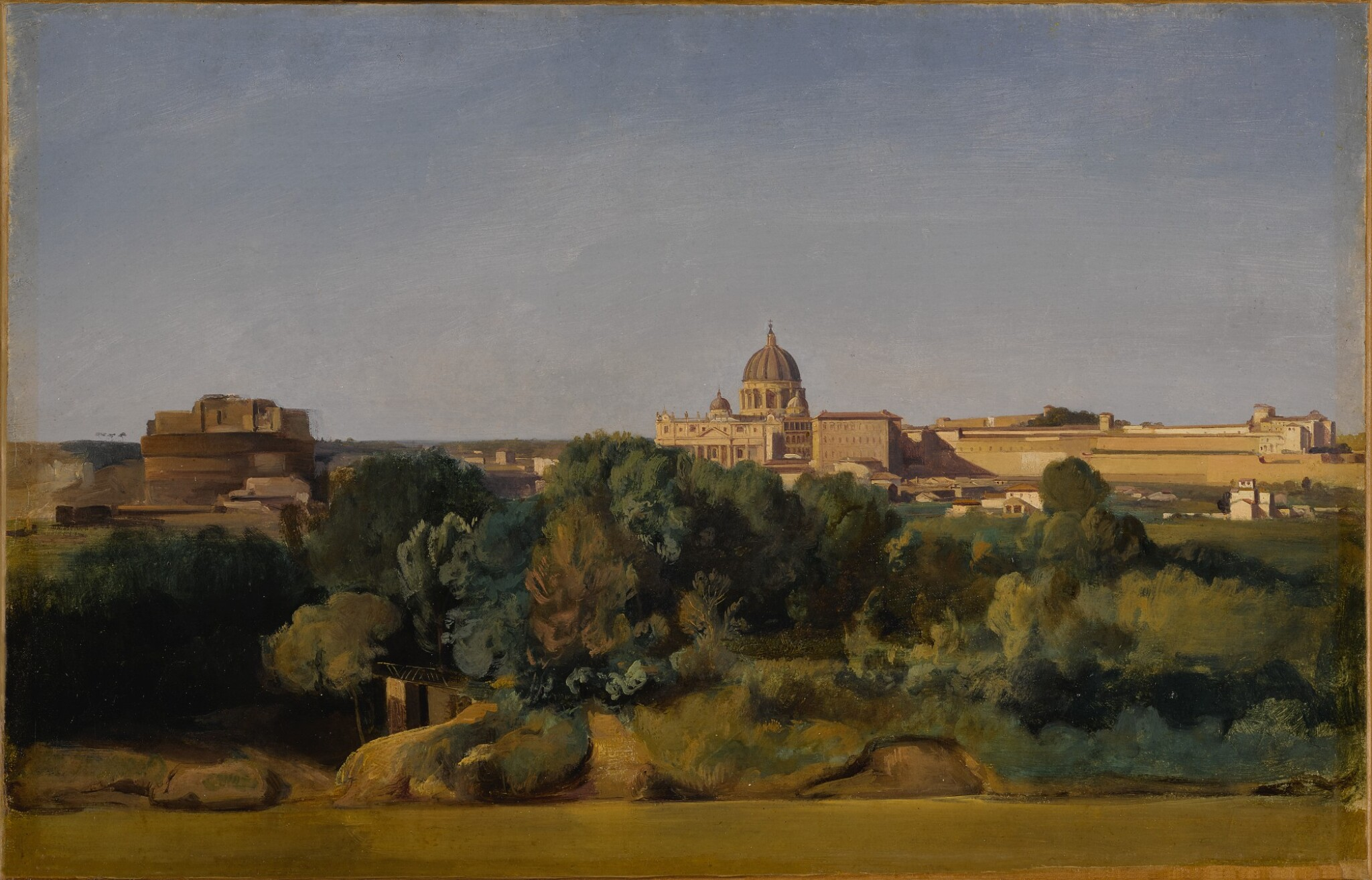 View full screen - View 1 of Lot 576. Rome, a view of Saint Peter's and the Castel Sant'Angelo.