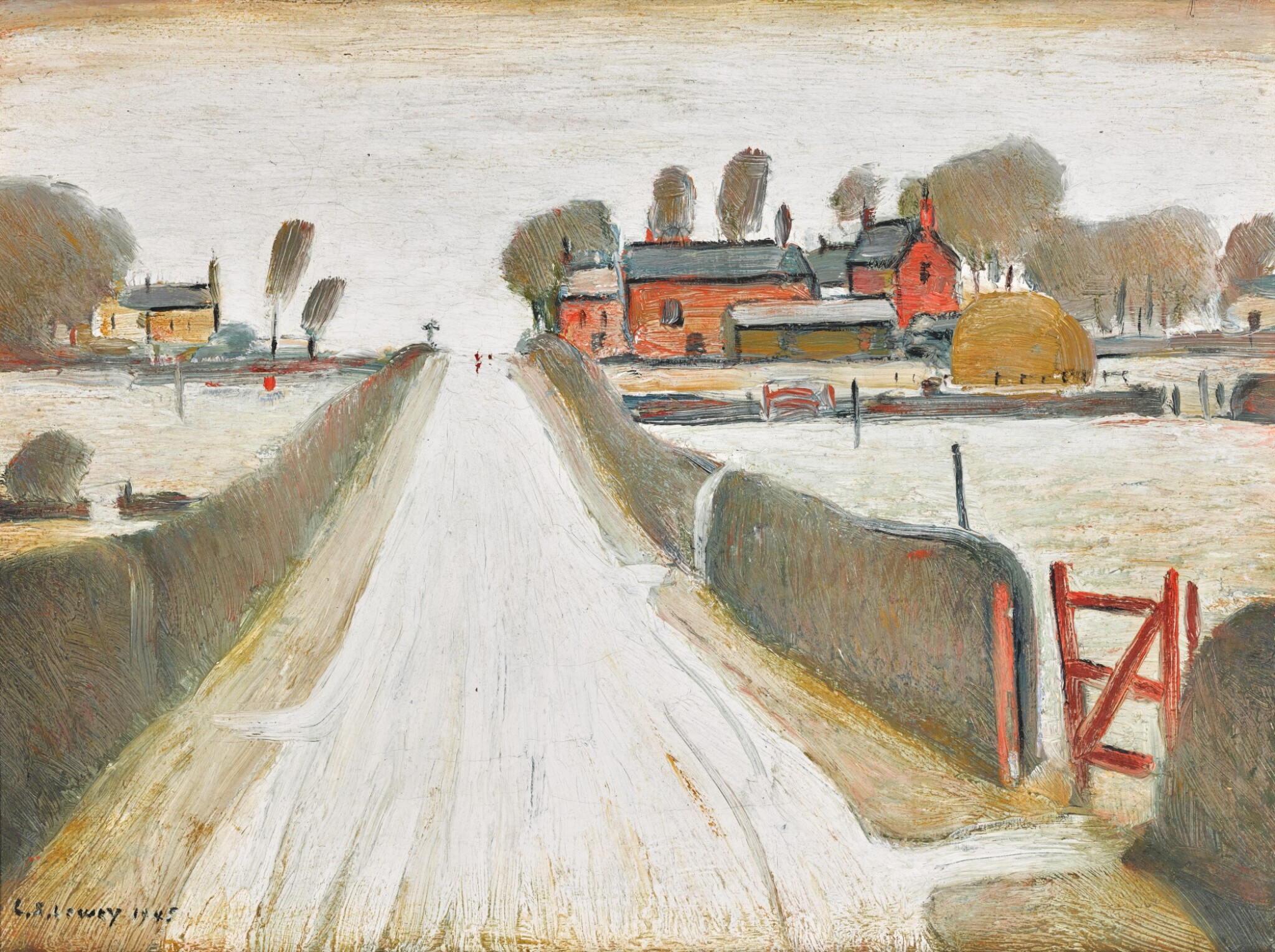 View full screen - View 1 of Lot 624. LAURENCE STEPHEN LOWRY, R.A. | FYLDE FARM.