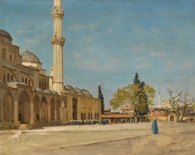 View 1. Thumbnail of Lot 159. Devant La Mosquée, Constantinople.