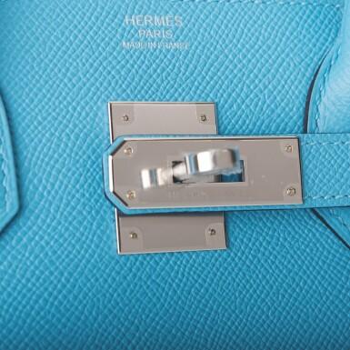 View 7. Thumbnail of Lot 63. Hermès Bleu Du Nord Birkin 30cm of Epsom Leather with Palladium Hardware.