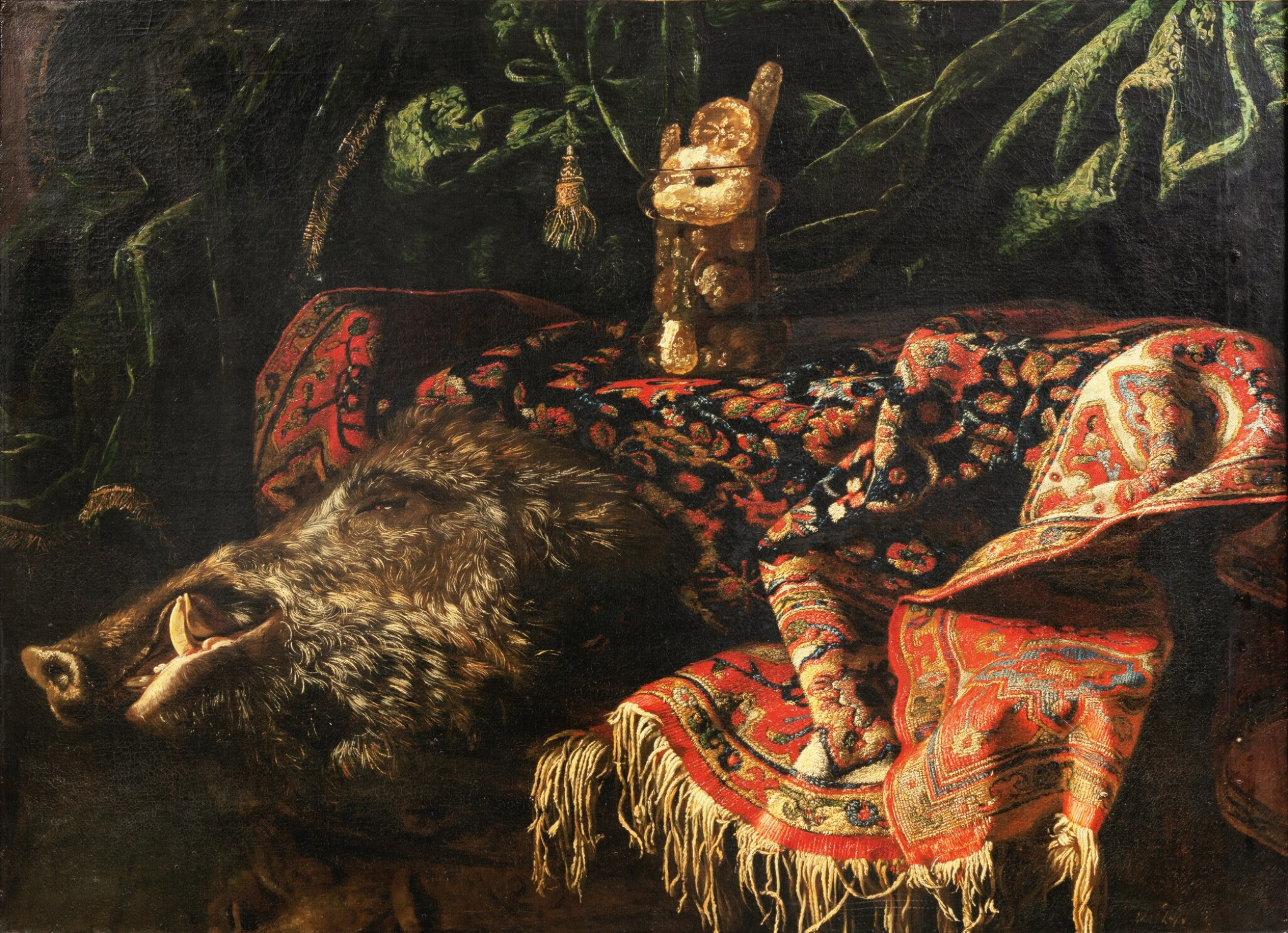 View full screen - View 1 of Lot 33. Still life with a boar.