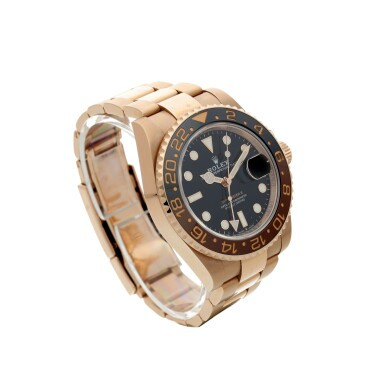 View 3. Thumbnail of Lot 15. ROLEX | REFERENCE 126715 GMT-MASTER II 'ROOT BEER' A PINK GOLD AUTOMATIC DUAL TIME ZONE WRISTWATCH WITH DATE AND BRACELET, CIRCA 2018.