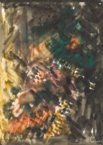 NATALIA SERGEEVNA GONCHAROVA | Composition in Green and Orange