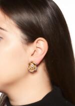 PAIR OF DIAMOND EAR CLIPS, 1950S