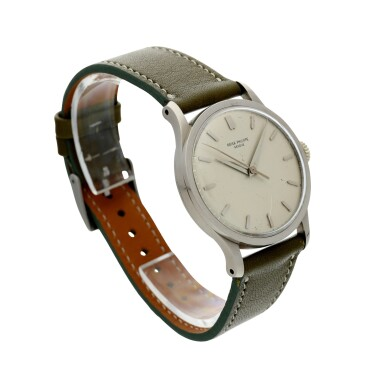 View 3. Thumbnail of Lot 37. PATEK PHILIPPE | REFERENCE 570 CALATRAVA  A WHITE GOLD WRISTWATCH, MADE IN 1966.