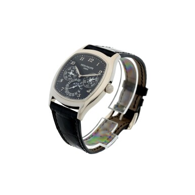 View 2. Thumbnail of Lot 162. REFERENCE 5940G-010 A FINE WHITE GOLD CUSHION FORM AUTOMATIC PERPETUAL CALENDAR WRISTWATCH WITH MOON PHASES, CIRCA 2018.