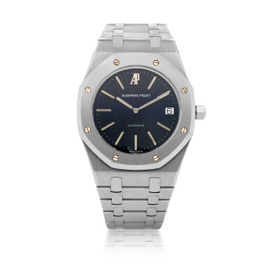 View 1. Thumbnail of Lot 376. ROYAL OAK JUBILEE, REF 14802ST LIMITED EDITION STAINLESS STEEL WRISTWATCH WITH DATE AND BRACELET CIRCA 1992.