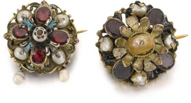 POSSIBLY FRENCH OR ITALIAN, LATE 17TH CENTURY | Two Buttons now Mounted as Brooches
