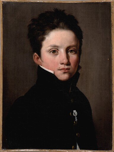 LOUIS-LÉOPOLD BOILLY  |  PORTRAIT OF A YOUNG BOY WEARING THE DÉCORATION DU LYS