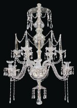 A SIX-LIGHT CUT-GLASS CHANDELIER 18TH CENTURY AND LATER, PROBABLY DUTCH