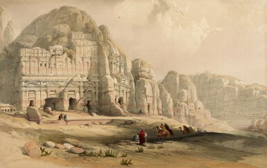 View 2. Thumbnail of Lot 150. ROBERTS   The Holy Land, 1842-1849, 3 volumes, deluxe edition.