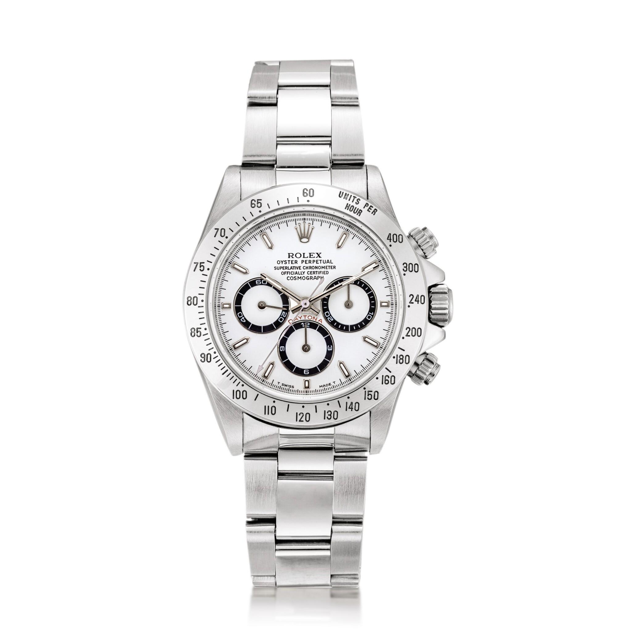View full screen - View 1 of Lot 2148. Rolex | Cosmograph Daytona, Reference 16520, A stainless steel chronograph wristwatch with bracelet, Circa 1996 | 勞力士 | Cosmograph Daytona 型號16520    精鋼計時鏈帶腕錶,約1996年製.