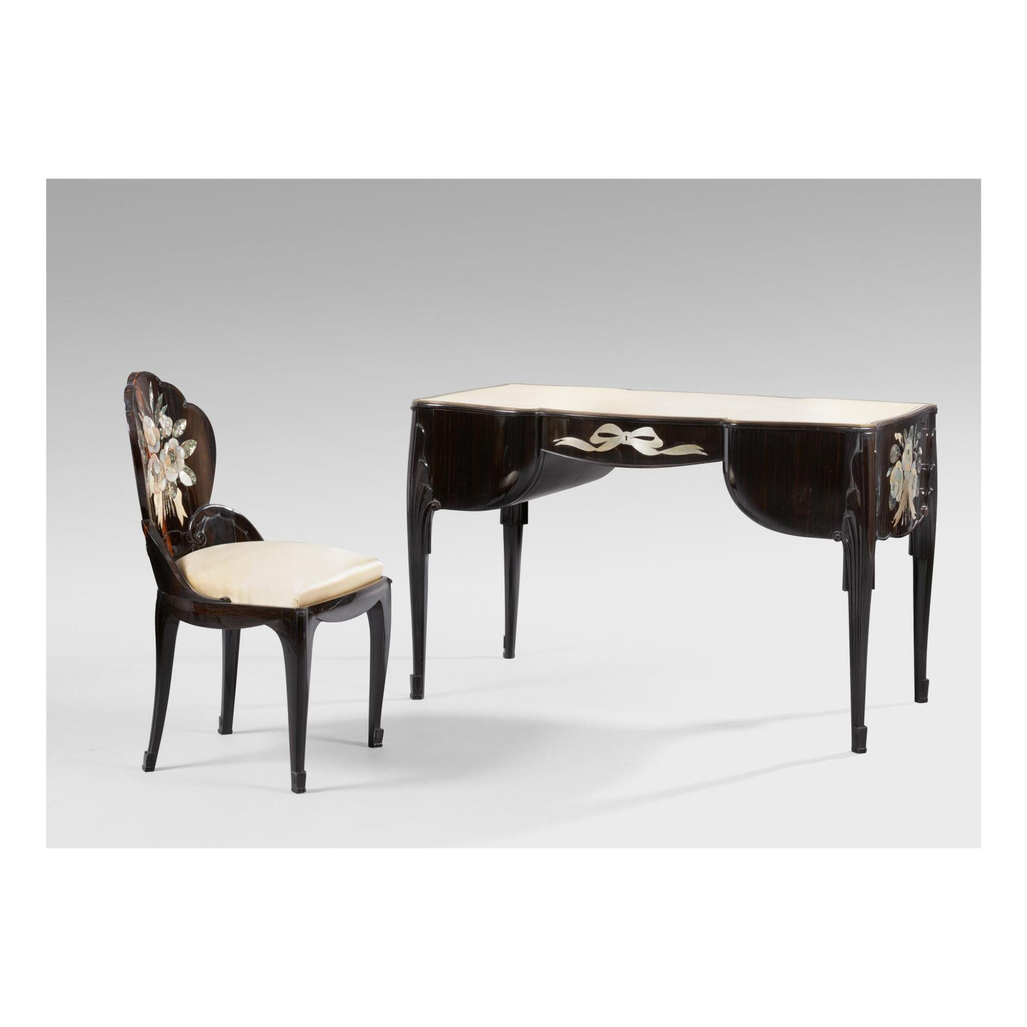 View full screen - View 1 of Lot 43.  LOUIS SÜE AND ANDRÉ MARE   LADY'S DESK AND CHAIR.