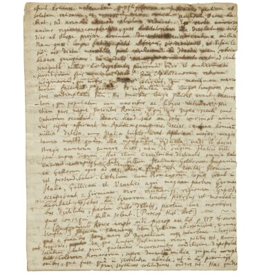 View 3. Thumbnail of Lot 1. NEWTON, ISAAC | TWO HIGHLY IMPORTANT DOCUMENTS RELATING TO NEWTON'S HISTORICAL RESEARCHES.