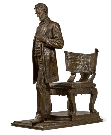 View 1. Thumbnail of Lot 40. AUGUSTUS SAINT-GAUDENS | ABRAHAM LINCOLN: THE MAN (STANDING LINCOLN).