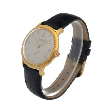 View 2. Thumbnail of Lot 87. Ref. 3454 Yellow gold wristwatch with 'reeded' bezel Made in 1962 | 百達翡麗 3454型號黃金腕錶,1962年製.