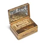 A LOUIS XVI ENAMELED GOLD BOÎTE À MOUCHES ET À ROUGE, CHARLES LE BASTIER, PARIS, 1777