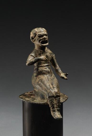 A BRONZE FIGURE OF A COMIC ACTOR, CIRCA 2ND CENTURY A.D.