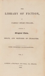 [Dickens], The Library of Fiction, 1836-37, first edition in book form