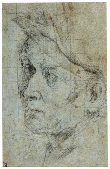 View 1. Thumbnail of Lot 40. GIOVANNI LANFRANCO | THE HEAD OF A MAN.