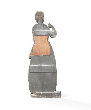 View 3. Thumbnail of Lot 68. FRANCO-FLEMISH SCHOOL, LATE 18TH CENTURY | TROMPE L'OEIL : A WOMAN CLEANING [ECOLE FRANCO-HOLLANDAISE, DE LA FIN DU XVIIIE SIÈCLE |  TROMPE-L'OEIL : FEMME BALAYANT].