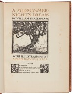 RACKHAM--SHAKESPEARE   A Midsummer Night's Dream, 1908, John Gielgud's copy