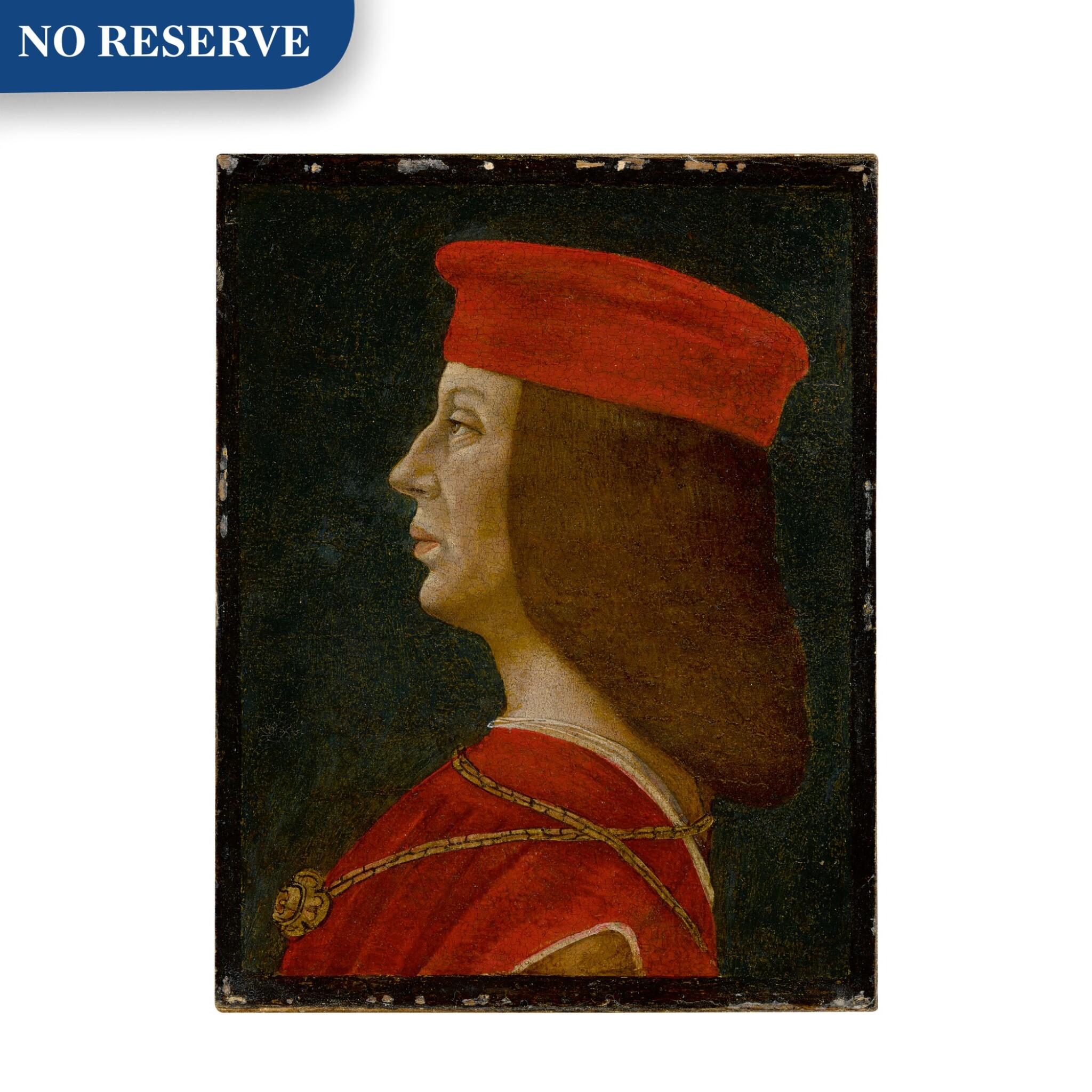 View full screen - View 1 of Lot 9. Profile portrait of a condottiero.