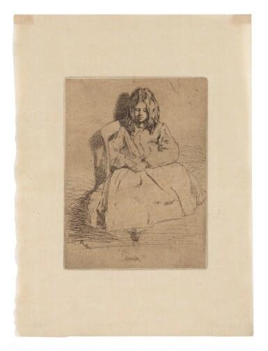 JAMES ABBOTT MCNEILL WHISTLER   ANNIE, SEATED (K. 30; G. 32)