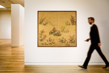 View 3. Thumbnail of Lot 8. RIMPA SCHOOL EDO PERIOD, 17TH-18TH CENTURY | GRASSES AND FLOWERS.