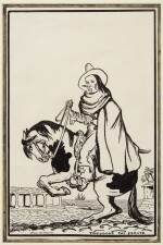 JACK B. YEATS, R.H.A. | TWO INK DRAWINGS FOR A BROADSIDE