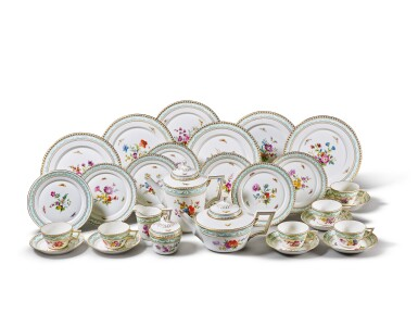 View 1. Thumbnail of Lot 208. A BERLIN (K.P.M) TEA AND COFFEE SERVICE, 20TH CENTURY.