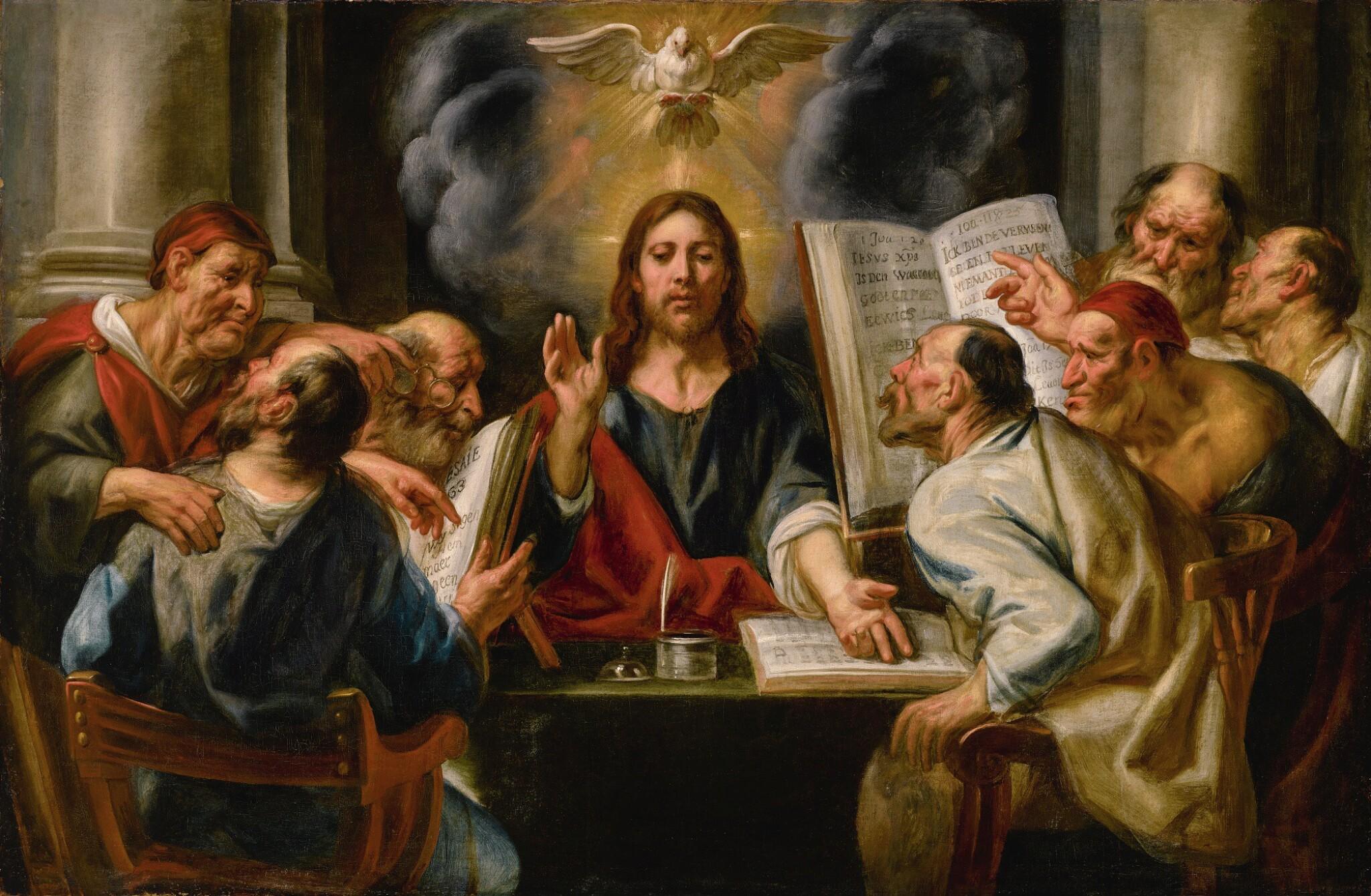 JACOB JORDAENS | Christ among the Pharisees | 雅格・約達恩 | 《在法利賽人之間的基督》